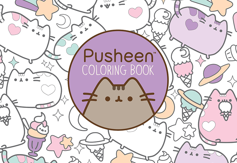 Download A Page From The New Pusheen Coloring Book!