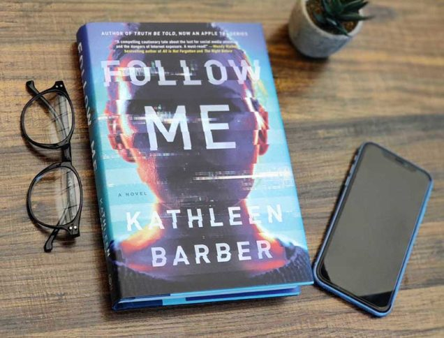 Follow Me Book Cover with glasses and phone