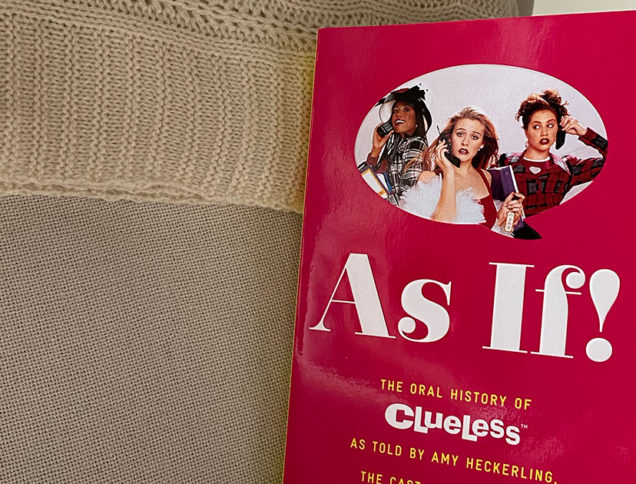 Clueless book on couch