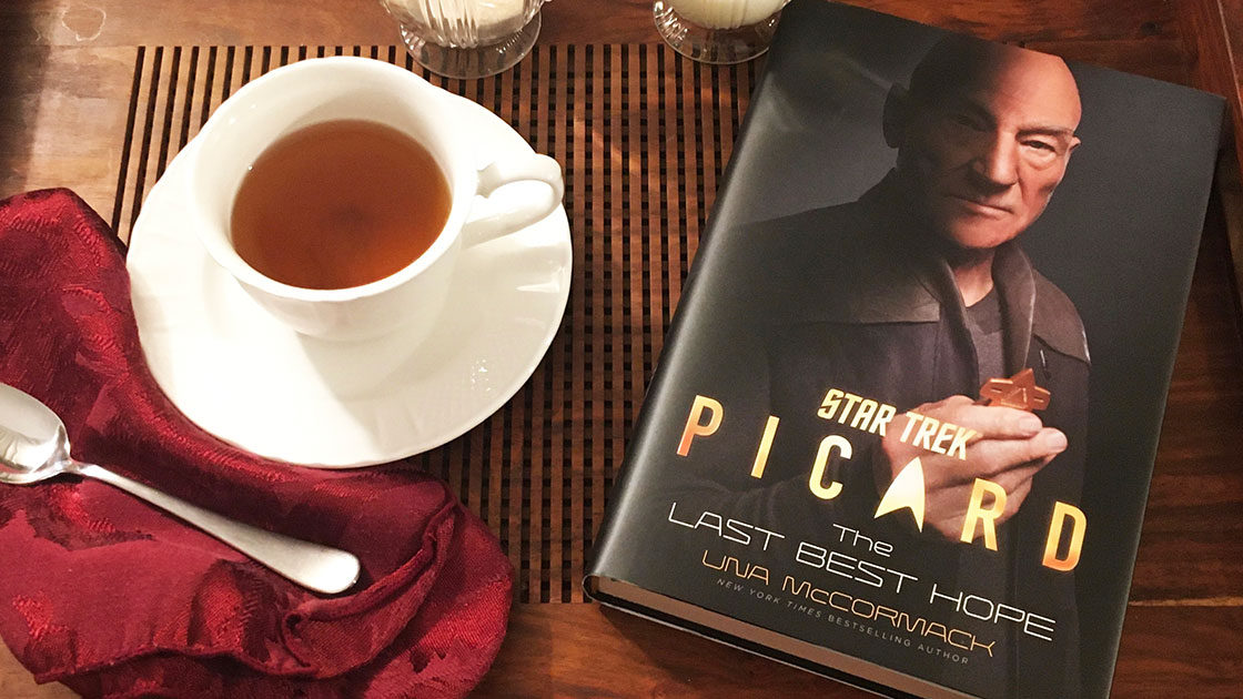 Picard book with tea
