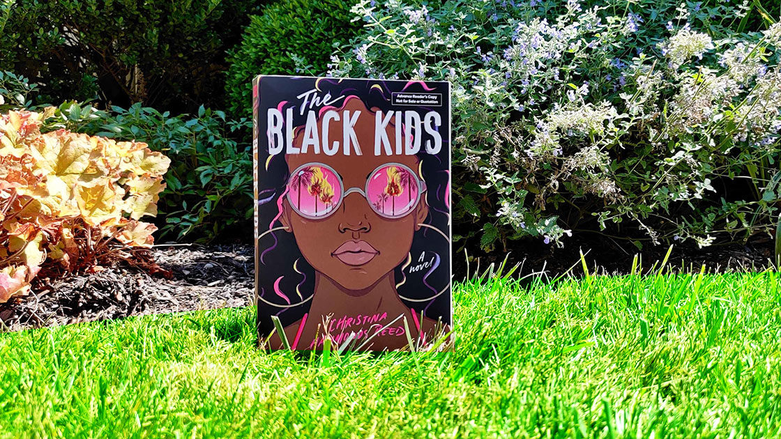The Black Kids book outside