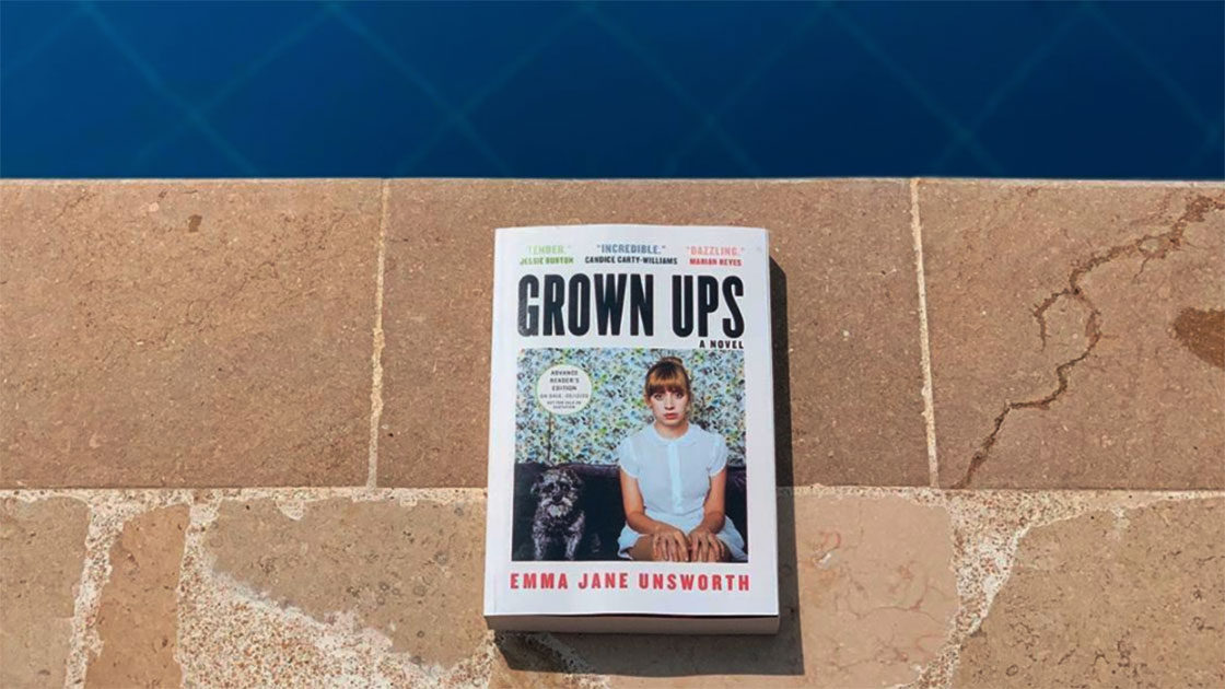 Grown Ups book by the pool