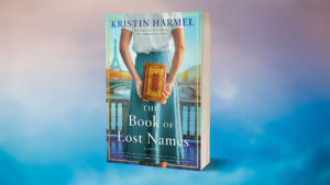 The Book of Lost Names book with blue background