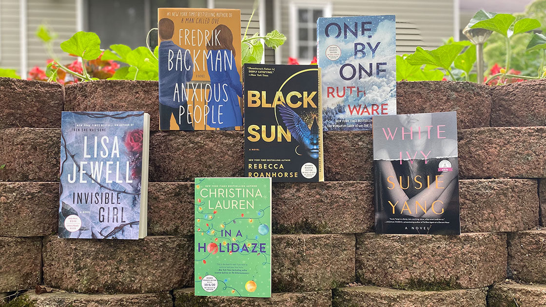 Six most anticipated fall books on a brick wall