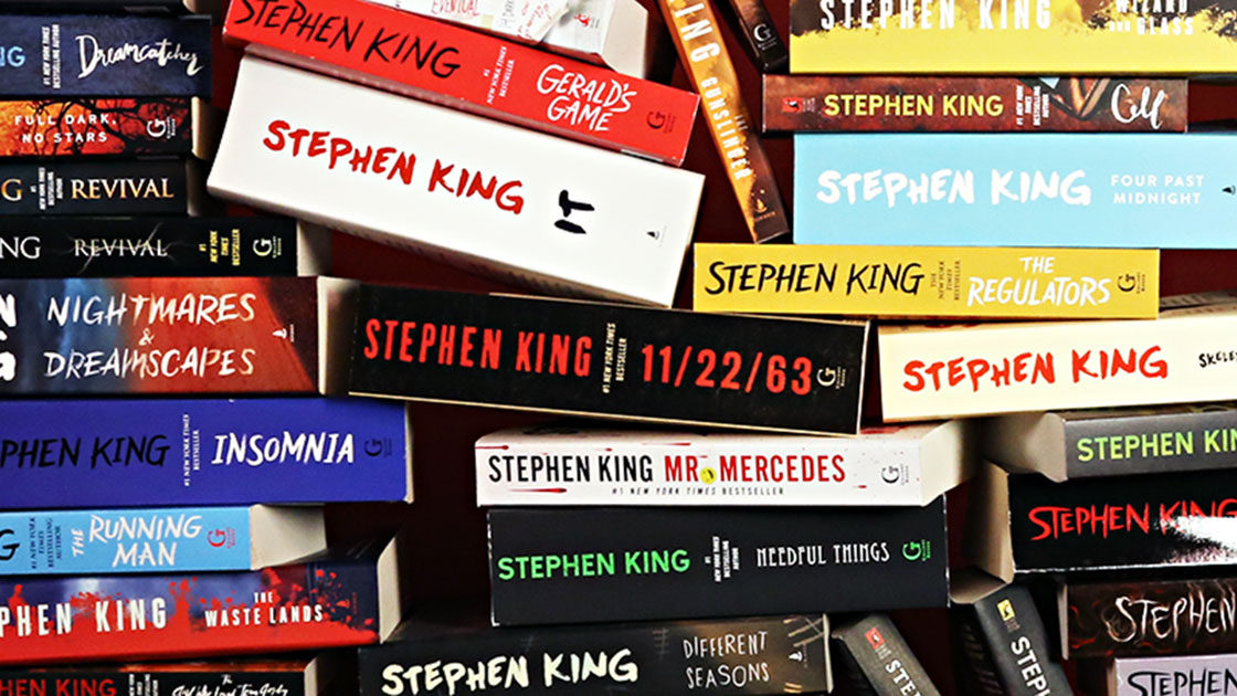Pile of Stephen King books